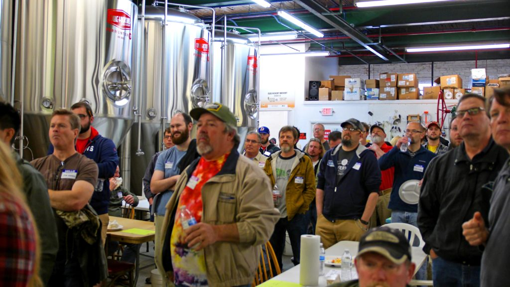 Judges Attentively Listening at the Start of the Bobby Bush Kicks off the Carolina Championship of Beer