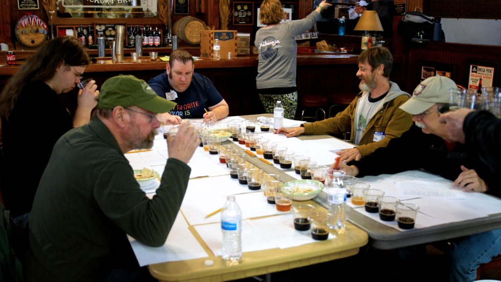 Setting up for the Best of Show Judging at the Carolina Championship of Beer