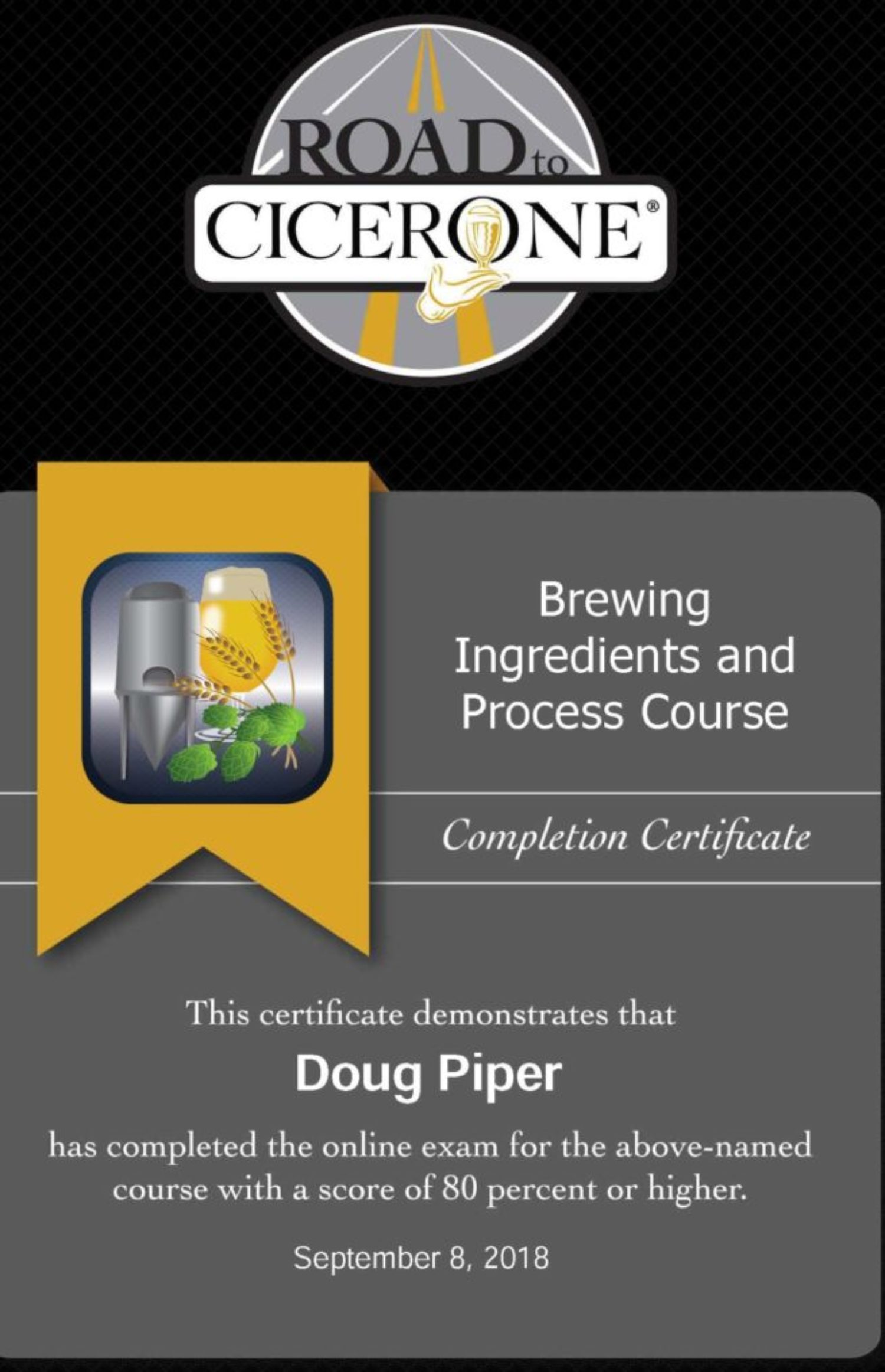 Cicerone Brewing and Ingrediants Specialist2