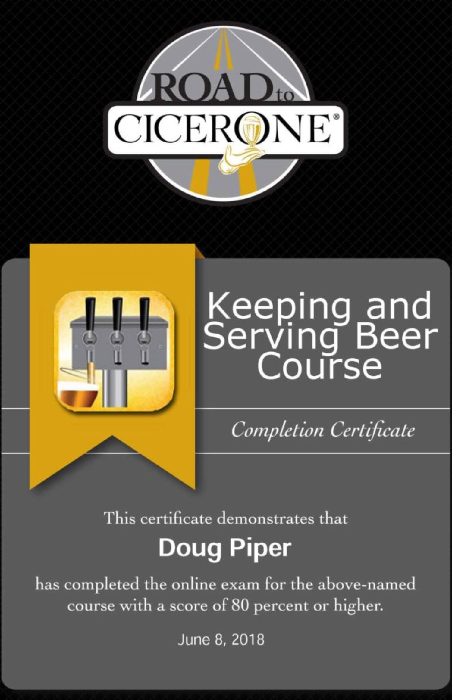 Cicerone Keeping and Serving Beer